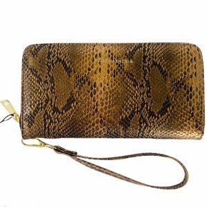 BCBG Wallet Bronze brown Snake Print